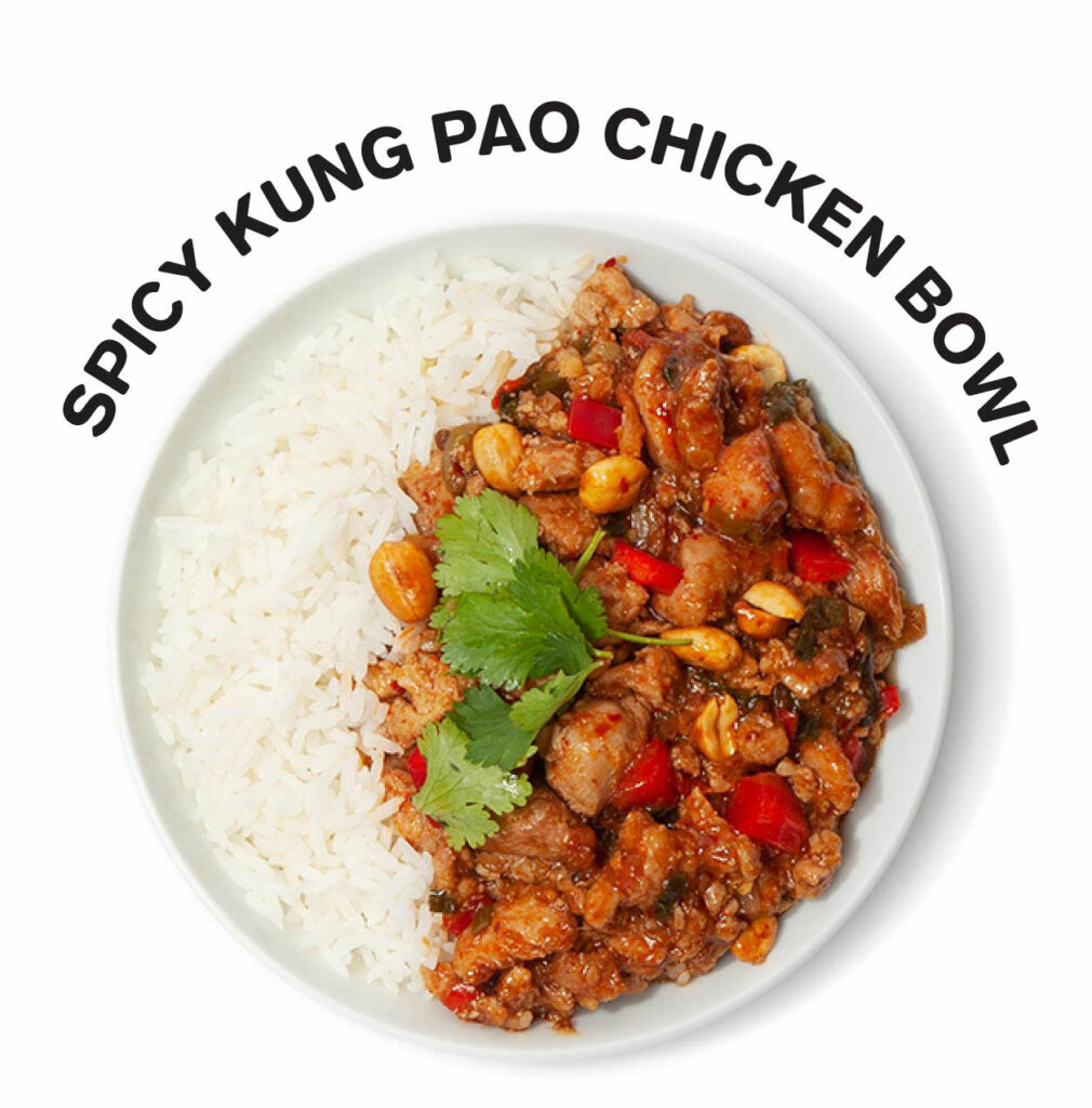 Spicy Kung Pao Chicken Rice Bowl
